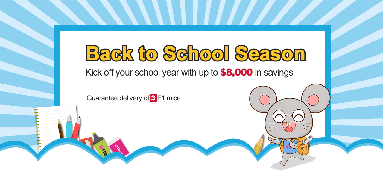 CRISPR/Cas9 based knockout, conditional knockout, knockin and point mutation mice start from $9,563 | Back to School Season